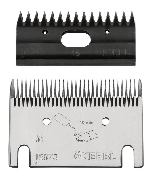 KERBL Premium Schermesser-Set - 31/15 Zähne