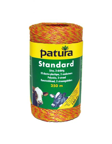 PATURA Standard Litze - 250 m gelb-orange