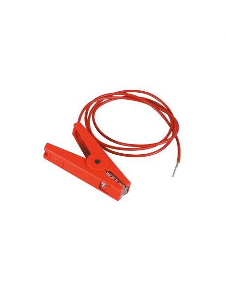 PATURA Zaunanschlusskabel - mit 3 mm Stift, rot