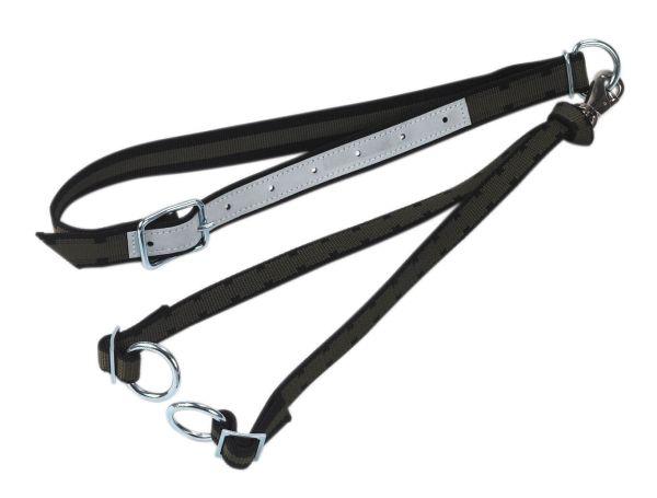 Rinderanbindung Top-Quality mit Halsband u. Bodenriemen - 130 x 4 cm