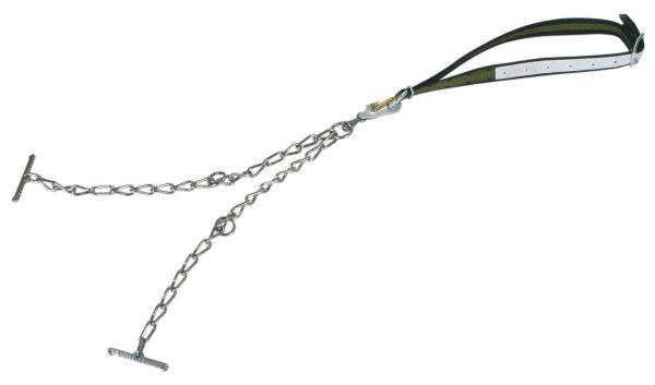 Rinderanbindung Top-Quality mit Halsband - 130 x 4 cm mit Sicherheitsverschluss