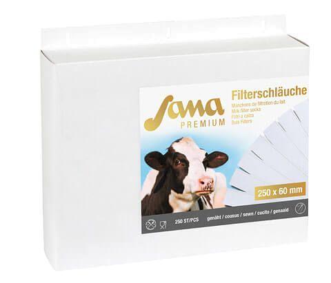 Sana Premium Milchfilter genäht 75/78 mm Breite