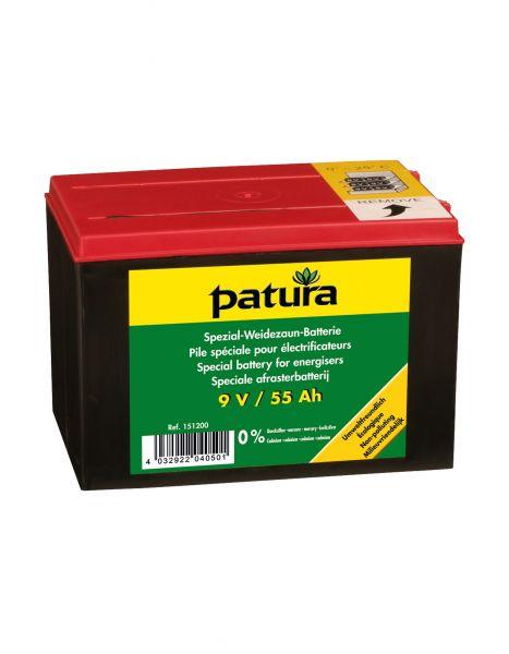 PATURA Spezial-Weidezaun-Batterie 9V - 55 Ah