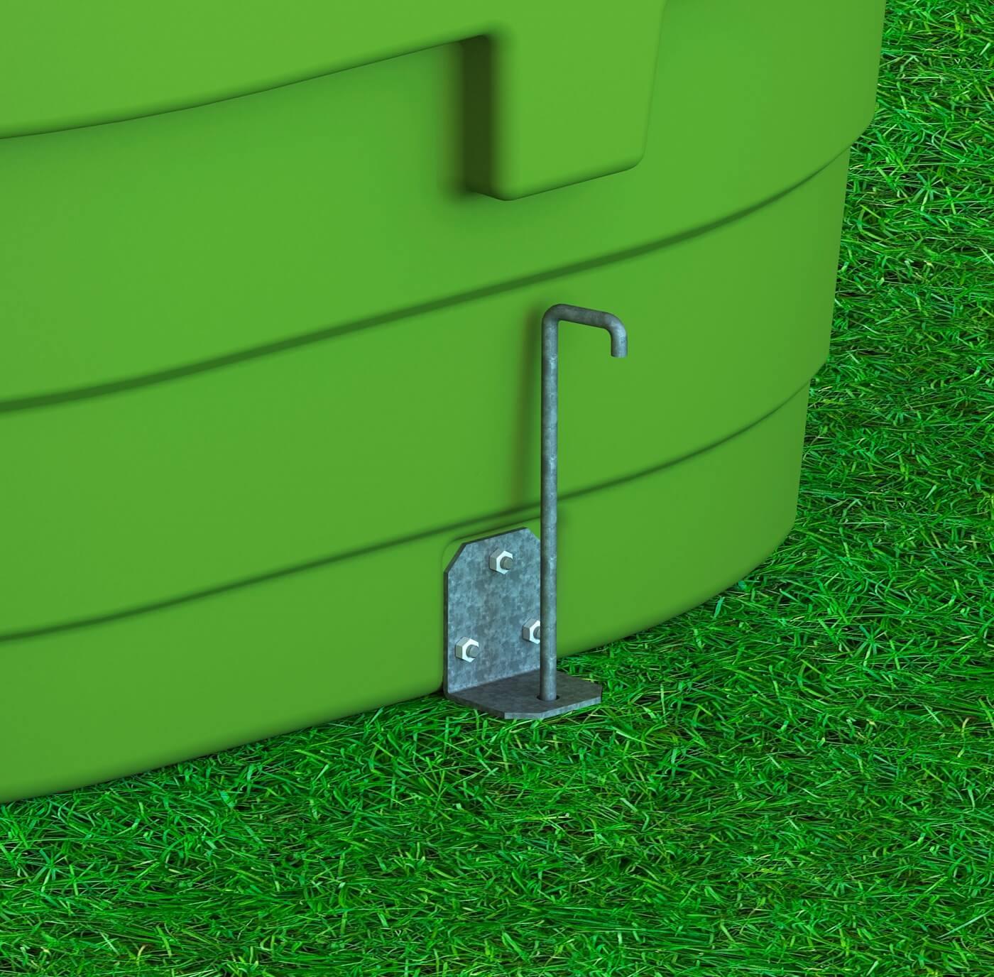 Bodenverankerung für Weidetränken