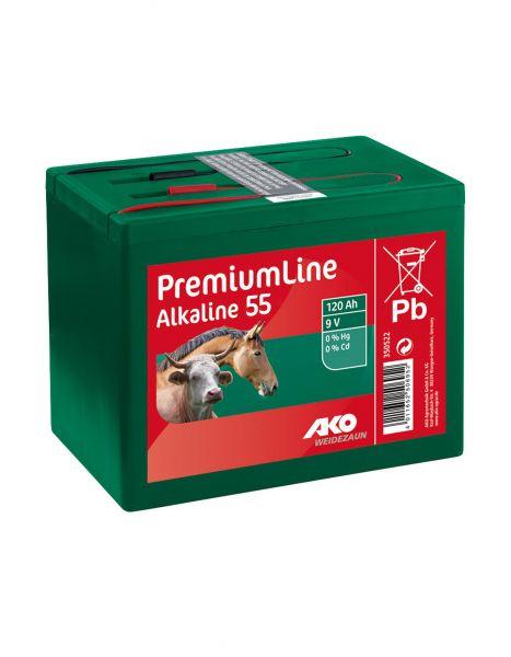 AKO Alkaline 9 Volt Trockenbatterie - 55 Ah