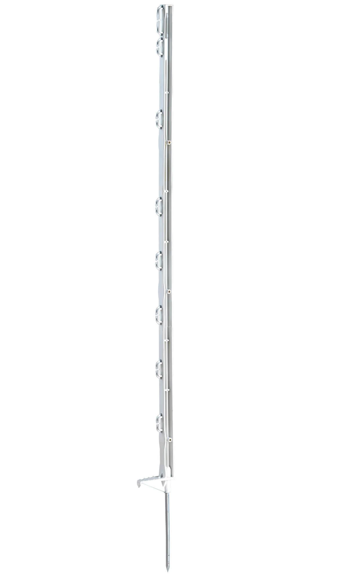 Kunststoffpfahl Eco weiß 105 cm - Einzeltritt