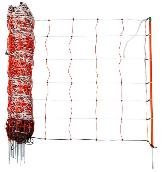 TopLine Net Schafnetz Einzelspitze 105 cm - 50 m orange