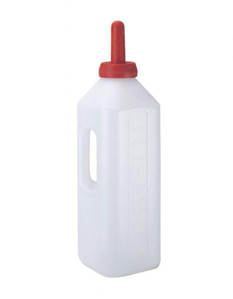KERBL Milchflasche eckig - 3 Liter mit Füllskala und Handgriff