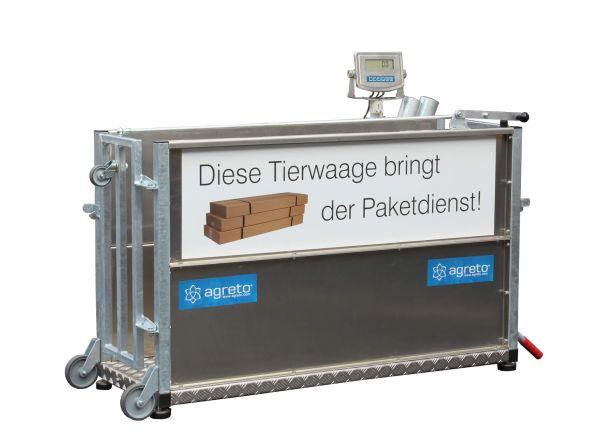 AGRETO Viehwaage / Tierwaage - bis 300 kg Wiegebereich