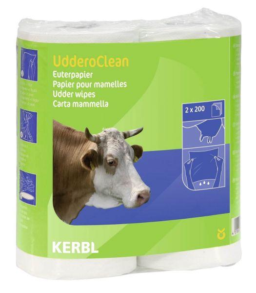 KERBL Euterpapier UdderoClean - 2 x 200 Blatt