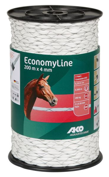 AKO EconomyLine Seil kreuzgewickelt Ø 4 mm, 200 m - weiß