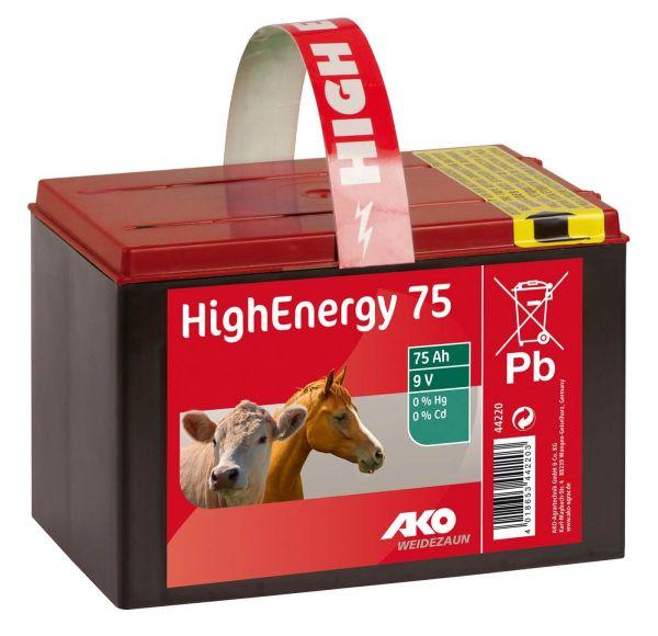 AKO High Energy Saline 9 Volt Trockenbatterie - 75 Ah